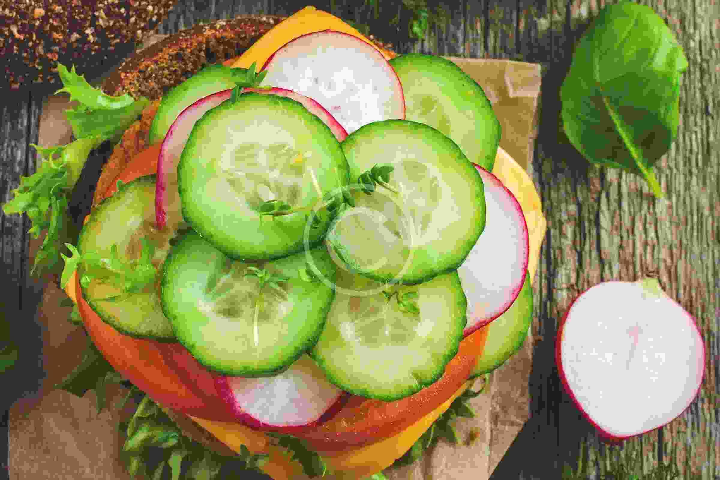 Vegetarian weekend at London food festival