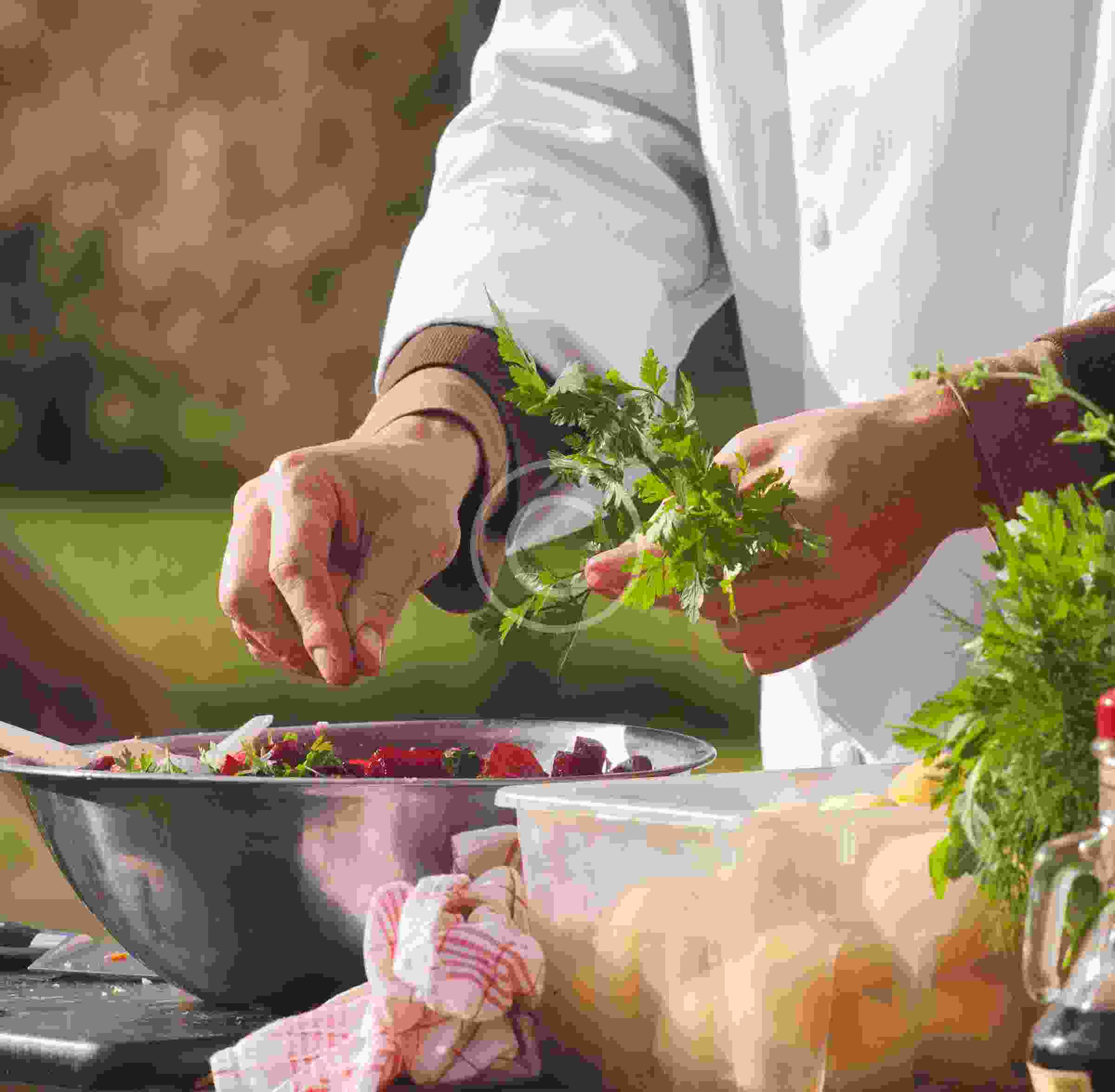 Chefs leave kitchens to cook for the fest